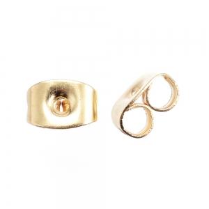 RVS stopper goud voor pin 0.7mm, per paar