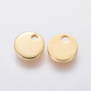 RVS muntje 7mm goud, per stuk