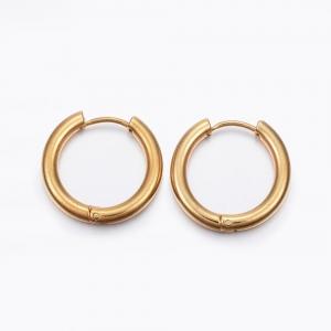 RVS oorbellen creolen goud 21mm, per paar