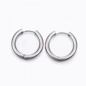 RVS oorbellen creolen 21mm, per paar