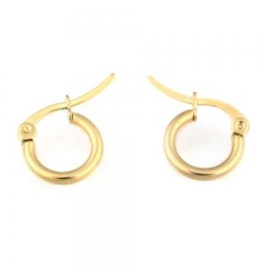 RVS oorbellen creolen goud 12mm, per paar