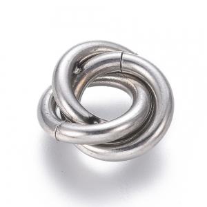 RVS triple ringen tussenstuk 13mm, per set