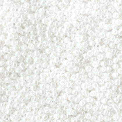 Rocailles 2mm Pearly white 20 gram