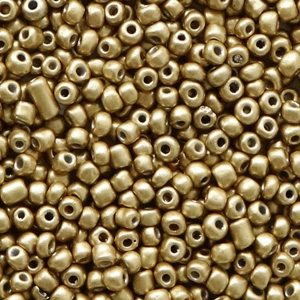 Rocailles 2mm restrained gold, 10 gram