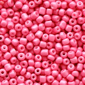 Rocailles 2mm hot shiny pink, 10 gram