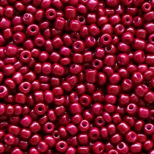 Rocailles 2mm mulberry red, 10 gram