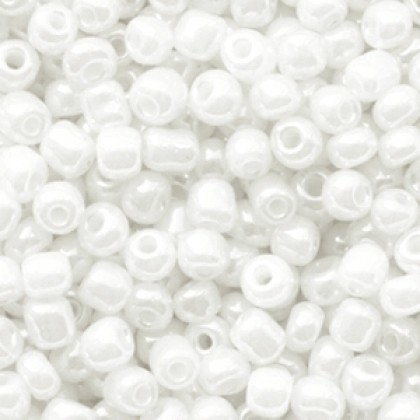 Rocailles 4mm Pearly white 40 gram