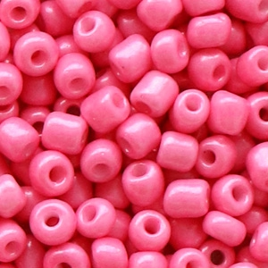 Rocailles 4mm hot shiny pink, 20 gram