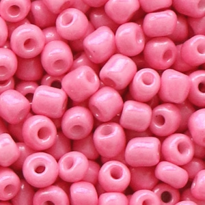 Rocailles 4mm rouge pink, 20 gram