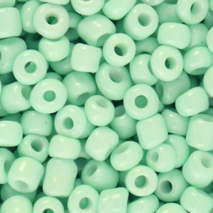 Rocailles 4mm neo mint green, 20 gram