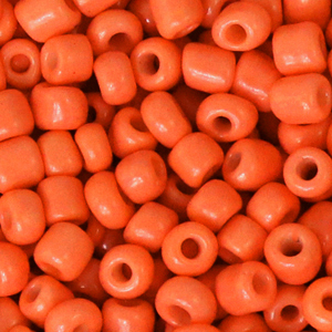 Rocailles 4mm fiery orange, 20 gram