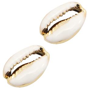 Kauri half white gold, per stuk