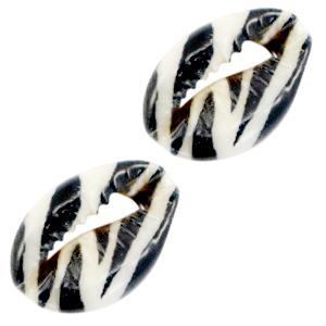 Kauri black white zebra, per stuk
