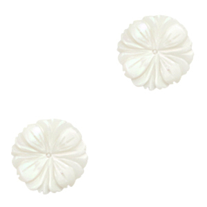 Kraal parelmoer schelp bloem, per stuk
