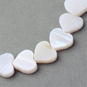 Kraal parelmoer schelp hart, per stuk
