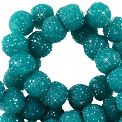 Sparkling 6mm Teal green