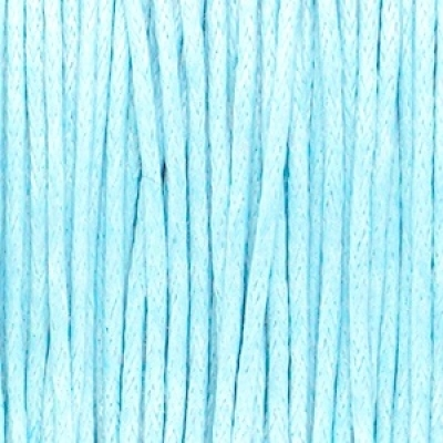Waxkoord 1mm Light blue, per meter