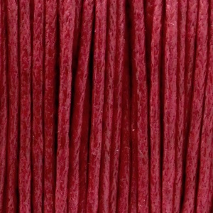 Waxkoord 1mm Ruby red, per meter