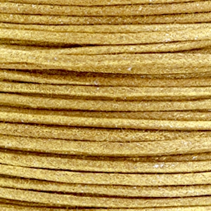 Waxkoord metallic 1mm Golden brown, per meter