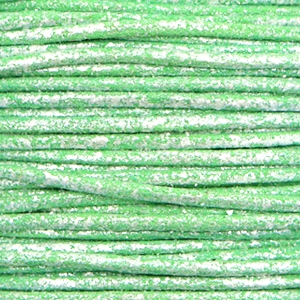 Waxkoord metallic 1mm Parrot green, per meter