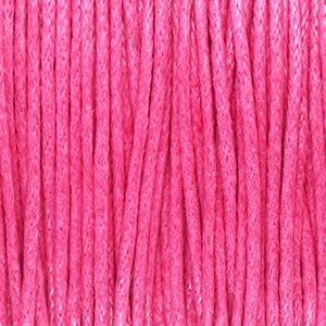 Waxkoord 1mm hot pink, per meter