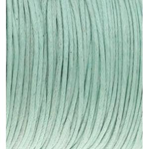 Waxkoord 1mm mintgroen, 5 meter