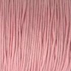 Waxkoord 1mm licht roze, per meter