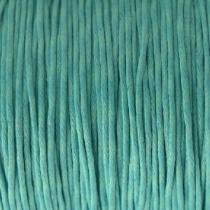 Waxkoord 1mm turquoise, per meter