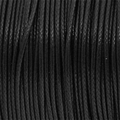 Waxkoord 1mm zwart, per meter