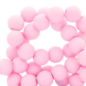 Acryl kralen 4mm matt sweet light pink, 5 gram
