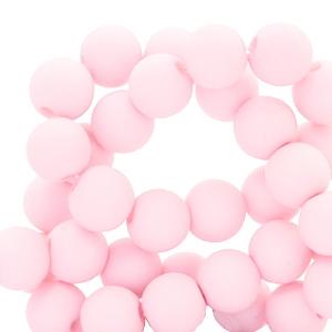Acryl kralen 4mm matt light pink, 5 gram