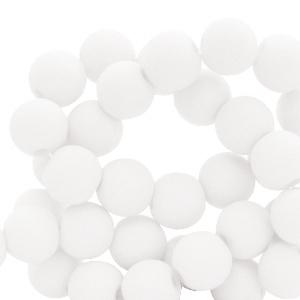 Acryl kralen 8mm matt white, per 10 gram