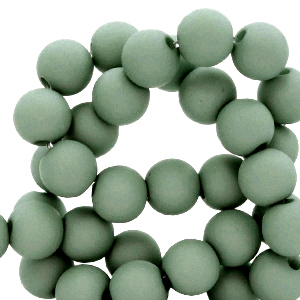 Acryl kralen 4mm basil green, 5 gram