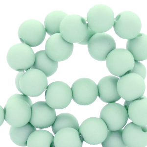 Acryl kralen 6mm soothing sea blue, 10 gram