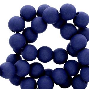 Acryl kralen 4mm dark blue, 5 gram