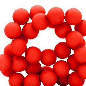 Acryl kralen 4mm flame scarlet red, 5 gram
