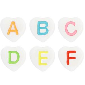 Letterkralen acryl hartjes white multicolour, set ca. 860 stuks