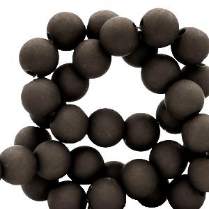 Acryl kralen 6mm jet black, 10 gram