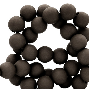 Acryl kralen 4mm jet black, 5 gram