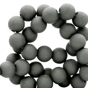 Acryl kralen 6mm dark sleet grey, 10 gram