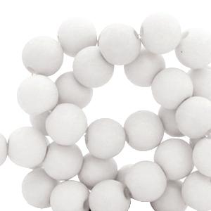 Acryl kralen 6mm nimbus cloud grey, 10 gram