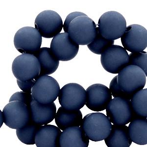 Acryl kralen 6mm peacoat blue, 10 gram