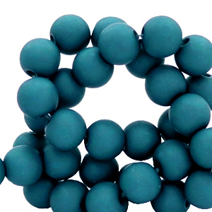 Acryl kralen 6mm snorkel blue, 10 gram