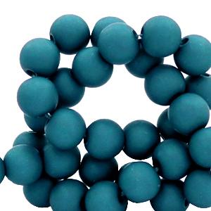 Acryl kralen 4mm snokel blue, 5 gram
