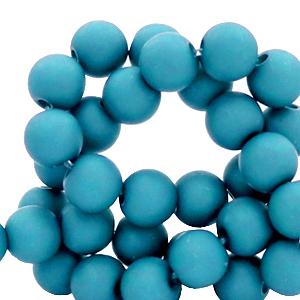 Acryl kralen 6mm blue danube, 10 gram