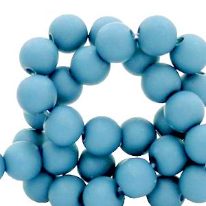 Acryl kralen 4mm cornflower blue, 5 gram
