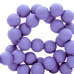Acryl kralen 6mm paisley purple, 10 gram