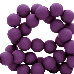 Acryl kralen 6mm tillandsia purple, 10 gram