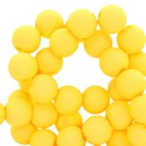 Acryl kralen 4mm blazing yellow, 5 gram