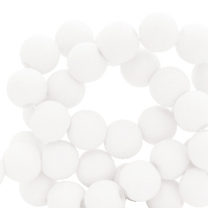 Acryl kralen 4mm brilliant white, 5 gram